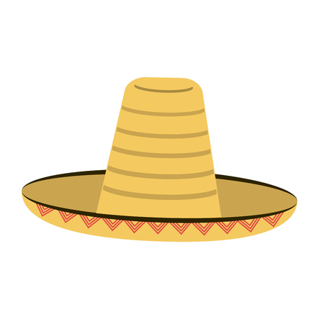 traditional hat mexican culture icon image vector illustration design Illustration