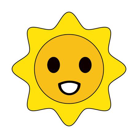 sun cartoon kawaii style icon image vector illustration design