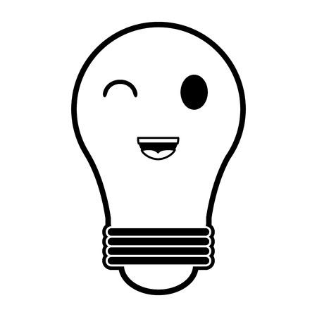 regular lightbulb   icon image vector illustration design  black and white Illustration