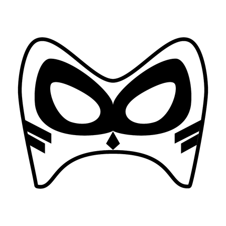 mask superhero icon image vector illustration design  black and white