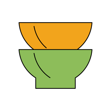 flatwares: two bowls icon image vector illustration design