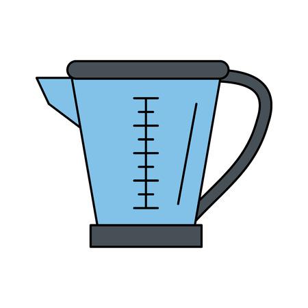 metende beker keukengerei pictogram afbeelding vector illustratie ontwerp