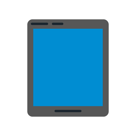 tablet with blue screen icon image vector illustration design