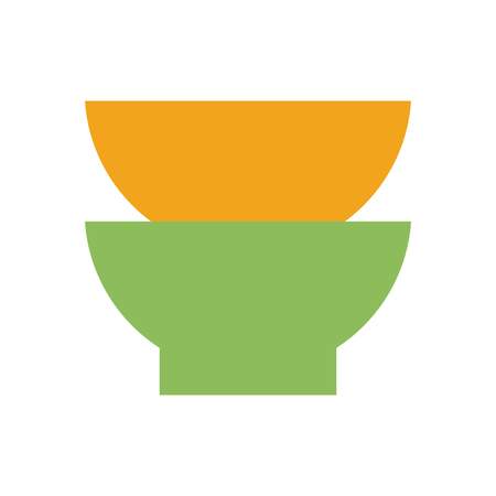 two bowls icon image vector illustration design