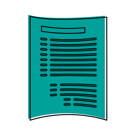 css: paper document with lines icon image vector illustration design  blue color Illustration