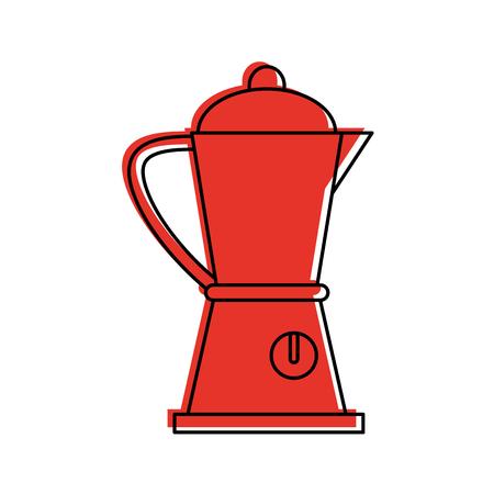 blender kitchenware icon image vector illustration design  red color