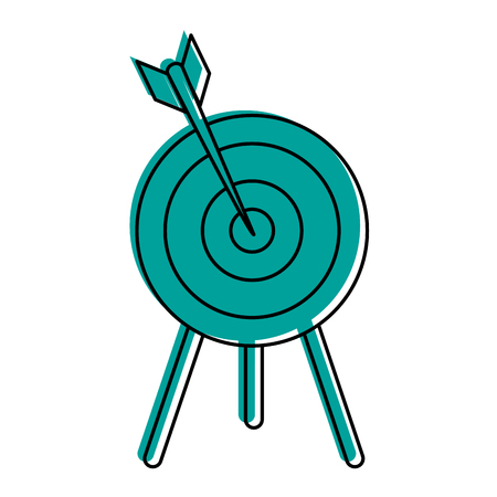 dart on bullseye icon image vector illustration design  blue color