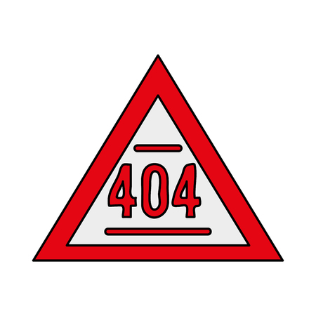 404 error sign icon image vector illustration design Illustration