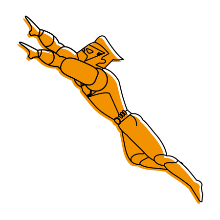 anatroccolo che vola illustrazione immagine immagine vettoriale colore giallo disegno vettoriale Vettoriali