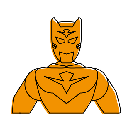 superhero portrait avatar icon image vector illustration design  yellow color