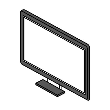 film industry: computer monitor icon image vector illustration design Illustration