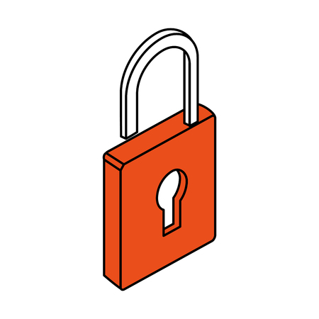 private security: safety lock with keyhole on front icon image vector illustration design Illustration
