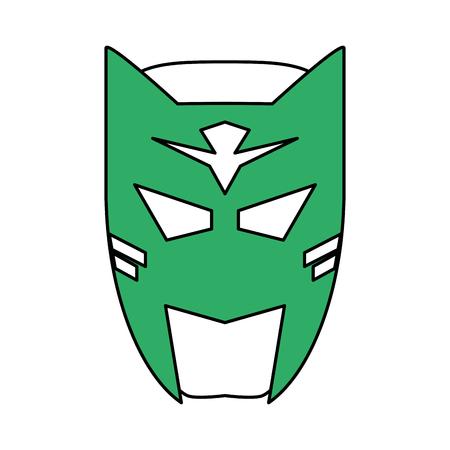 superhero mask avatar icon image vector illustration design Illustration