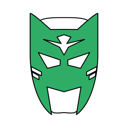 superhero mask avatar icon image vector illustration design Illustration