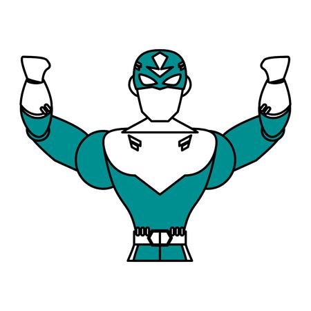 superhero lifting arms avatar icon image vector illustration design Illustration