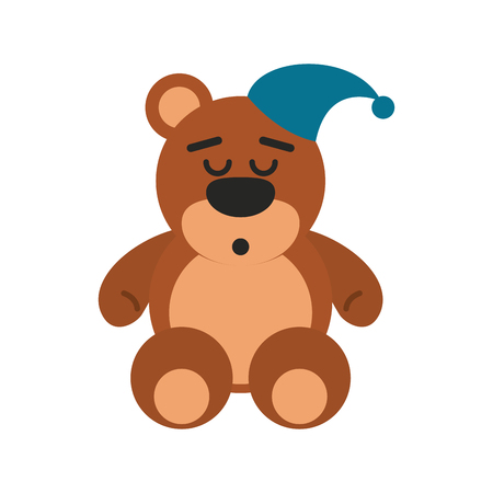 teddy bear sleep related icon image vector illustration design