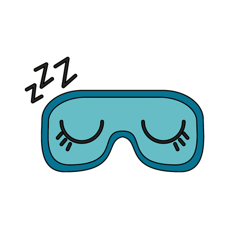 sleeping mask or blindfold closed eyes zzz sleep related icon image vector illustration design