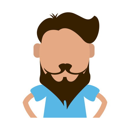 hipster man avatar icon image vector illustration design
