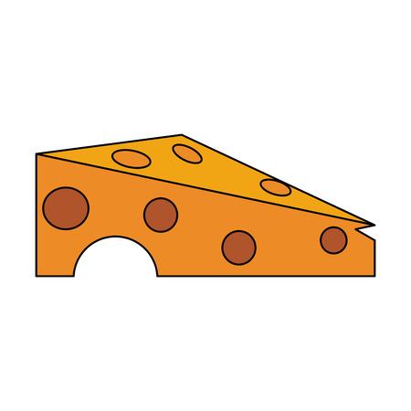 cheese slice icon image vector illustration design