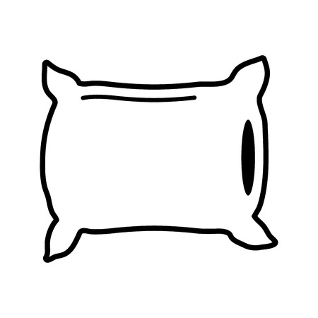 pillow bedroom icon image vector illustration design  black and white