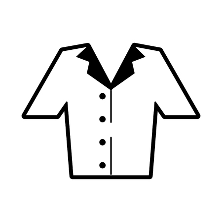shirt button up clothes icon image vector illustration design  black and white Çizim