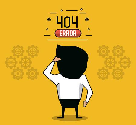 web site design template: Error 404 infographic over white background vector illustration graphic design