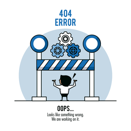Error 404 infographic over white background vector illustration graphic design