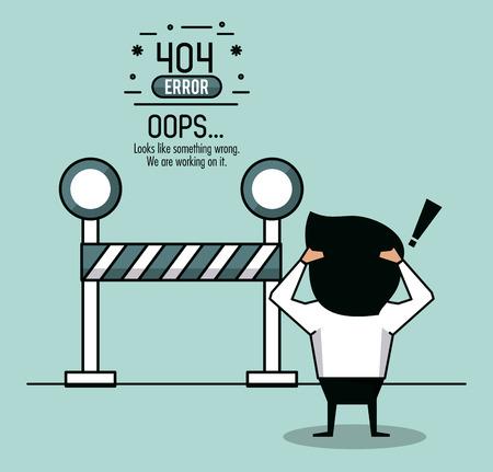 erreur 404 infographie sur fond blanc illustration vectorielle conception graphique