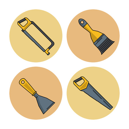 rounds: construction round icons icon vector illustration graphic design Illustration