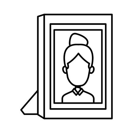 Girl picture frame icon vector illustration graphic design