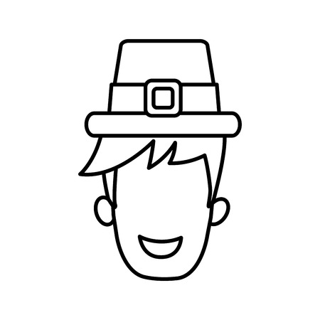 old english: Male vintage hat icon vector illustration graphic design