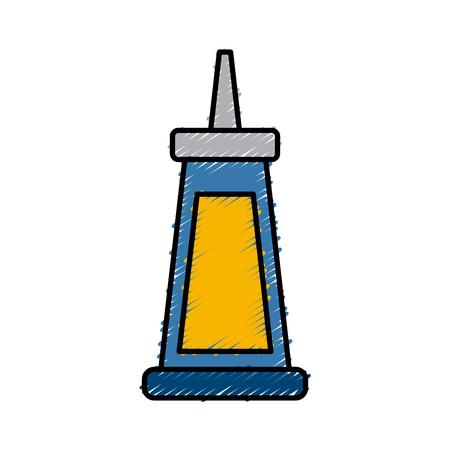 super glue bottle icon vector illustration graphic design
