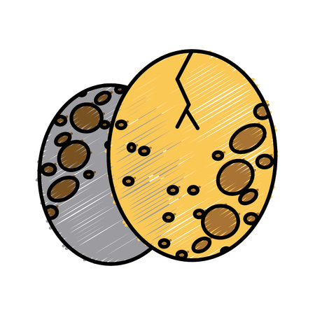 Quail eggs food icon vector illustration graphic design Ilustração