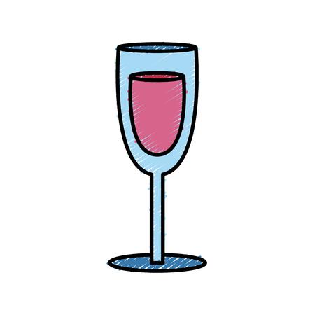 champagne celebration: Champagne cup glass icon vector illustration graphic design