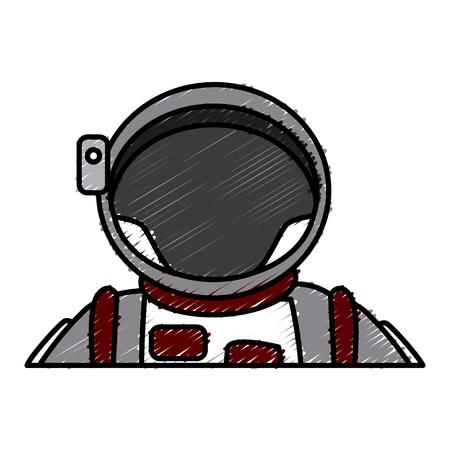 gravedad: Cute astronaut cartoon icon vector illustration graphic design Vectores