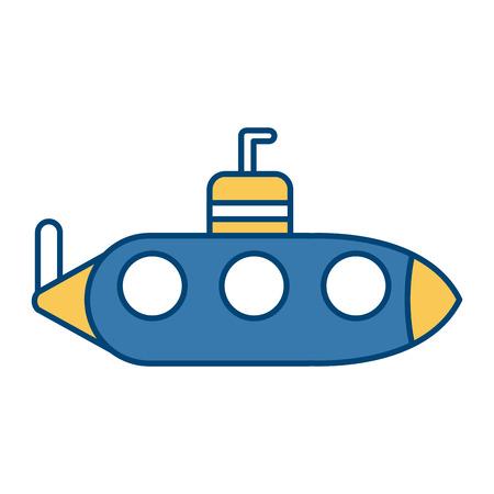 Submarine war ship icon vector illustration graphic design Illustration