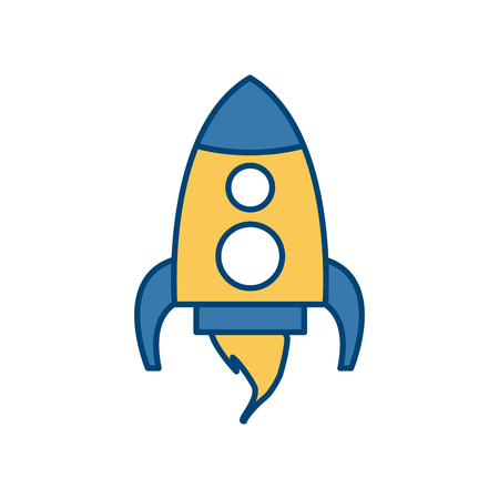 Spaceship rocket isolated icon vector illustration graphic design Illustration