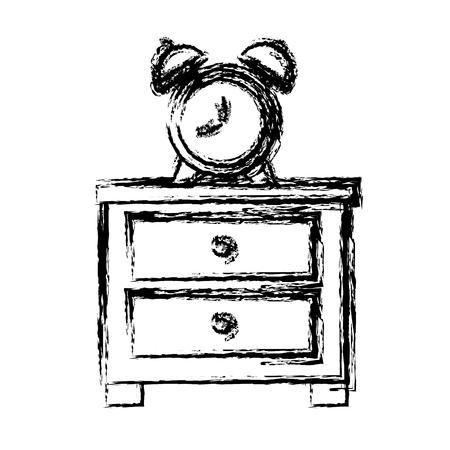 Clock with bells icon vector illustration graphic design Illustration