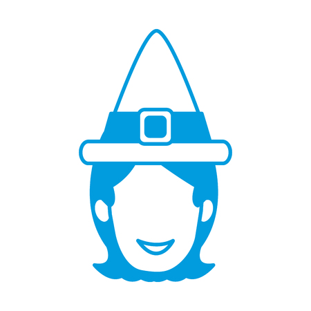 woman vintage hat icon vector illustration graphic design Illustration
