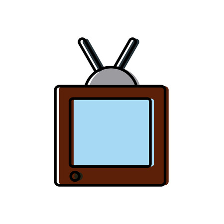 lcd display: Television media technology icon vector illustration graphic design Illustration
