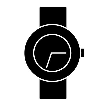 Wristwatch clock symbol icon vector illustration graphic design