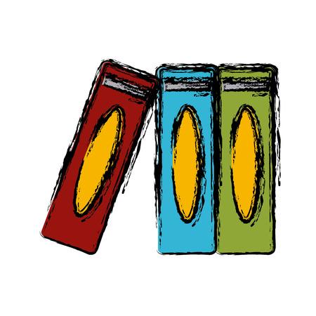 Set of books icon vector illustration graphic design Illustration