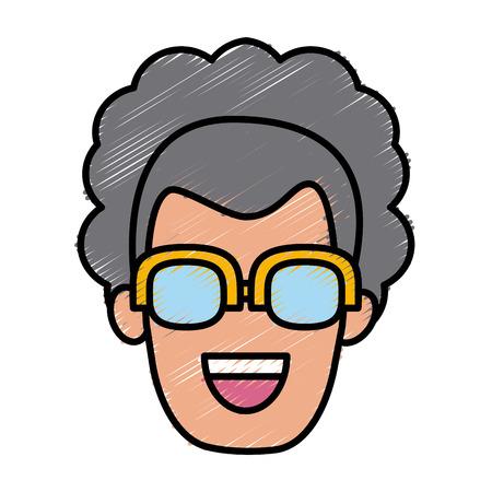 smart boy: Woman with glasses icon vector illustration graphic design Illustration