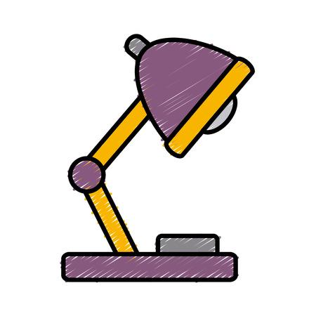 comfortable: Night light lamp icon vector illustration graphic design