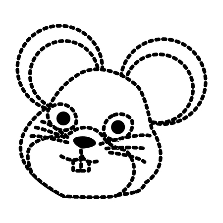 Cute mouse cartoon icon vector illustration graphic design Illustration