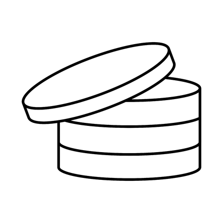 Disks database storage icon vector illustration graphic design