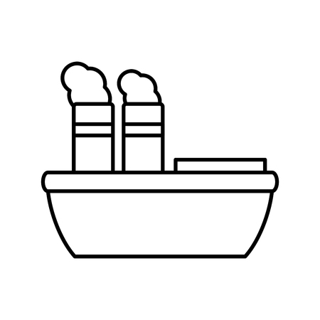 Freigther boat ship icon vector illustration graphic design