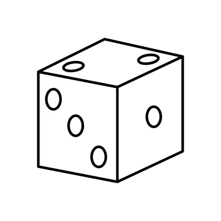 Casino dice icon vector illustration graphic design