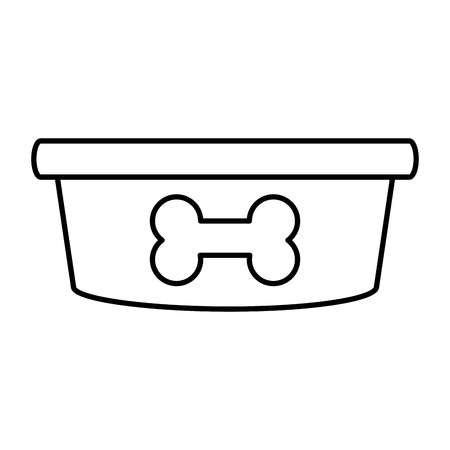Dog food bowl icon vector illustration graphic design Illustration