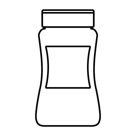 Instant coffee bottle icon vector illustration graphic design